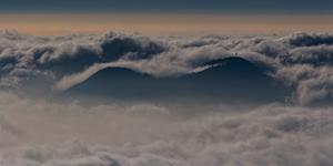 Strano tramonto…..e nuvole in tempesta