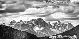 Gruppo del Brenta visto dall'Altopiano di Folgaria